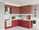 Кухня угловая, AGT глянец, красный