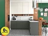 Кухня угловая ТБМ Люкс «Софи» (2.4х1.2 м, серый/белый)
