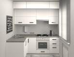 Кухня угловая, AGT матовый, белый