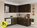 Кухня угловая ТБМ Люкс «Люсиль» (2.5x1.8 м, коричневый)