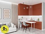 Кухня угловая ТБМ Люкс «Одри» (1.8x1.8 м, красный)