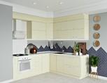 Кухня угловая ТБМ Люкс «Люсиль» (2.5x1.8 м, кремовый)