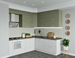 Кухня угловая ТБМ Люкс «Люсиль» (2.5x1.8 м, серый кашемир/белый кашемир)