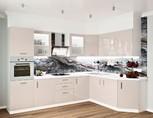 Кухня угловая, Alvic глянец, кашемир