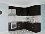 Кухня угловая, Alvic матовый, черный