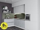 Кухня угловая ТБМ Люкс «Клэр» (белый/светло-серый)