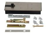 Напольный доводчик с фиксатором, для алюминиевой двери 800 мм