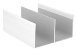Направляющая верхняя, алюминий в ПВХ, L=5900 мм, белый глянец.