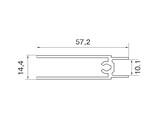 Планка нижняя, алюминий в ПВХ, L=5900 мм, дуб дымчатый  с тиснением.