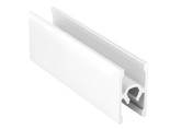 Планка средняя под крепеж, алюминий в ПВХ, L=5900 мм, белый глянец.