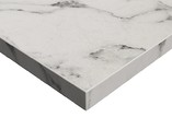 Плита ЛДСП ALVIC SYNCRON 1220*18*2750 мм, стандартная упаковка, белый мрамор (Oriental White Silk Stone)