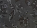 AGT глянцевая ламинированная плита МДФ (чёрные цветы (629/1102), 1220x18x2800 мм)