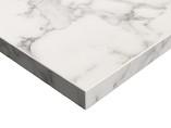 Плита МДФ LUXE 1220*18*2750 мм, глянец белый мрамор (Oriental White)