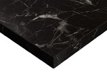 Плита МДФ LUXE 1220*18*2750 мм, глянец черный мрамор (Oriental Black)