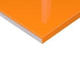 Плита МДФ Тон Оранж 0422,  глянец УФ-лак, 16*1220*2440 мм
