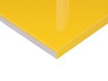 Плита МДФ Желтый 1013 глянец УФ-лак, 16*1220*2440 мм