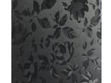 Полотно EVOGLOSS МДФ глянец черные цветы (K), P207, 18*1220*2800 мм, одностороннее