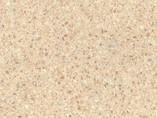 Пристеночный бортик овальный, Бежевая искра глянец, 34*29 мм, L=4.2м