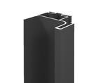 Профиль GOLA FIRMAX вертикальный боковой L=3000mm, алюминий черный