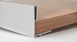 Профиль ручка для фасадов 18 мм, серия MONA, L=3000 мм, алюминий, серебро.