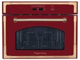 RMW 969 BOR Встраиваемая микроволновая печь, цвет: бордовый/ручка дверцы и рамки цвета бронзы