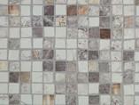 Бортик пристеночный треугольный ALPHALUX, 30*25 мм, L=4.1м, мозаика крем,алюминий