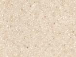 Пристеночный бортик овальный, Семолина карамельная шлифованный камень, 34*29 мм, L=4.2м