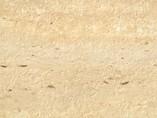 Пристеночный бортик овальный, Травертин римский природный камень, 34*29 мм, L=4.2м