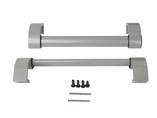 Ручка дверная прямая межосевое расстояние 350 мм с креплениями (58-72 мм) цвет: серебристый