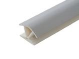 Соединитель 135гр. кухонного цоколя пластик Алюминий гладкий L=1м FIRMAX