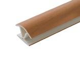 Соединитель 135гр. кухонного цоколя пластик Орех миланский L=1м FIRMAX