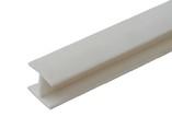 Соединитель 180гр. кухонного цоколя пластик Белый L=1м FIRMAX