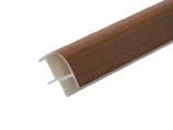 Соединитель 90гр. кухонного цоколя пластик Орех темный L=1м FIRMAX