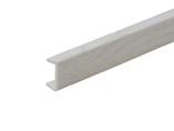 Торцевая заглушка кухонного цоколя пластик Ясень структурный L=1м FIRMAX