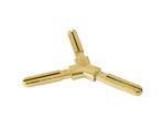 Y-образное пластиковое декоративное соединение 90° Germanella золото