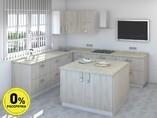 Кухня с островом ТБМ Люкс «Мэрилин» (2.2x2.4x1.2x1.2 м, бежевый)