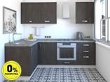 Кухня угловая ТБМ Люкс «Мишель» (1.6x2.4 м, серый)