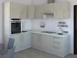 Кухня угловая ТБМ Люкс «Сильвия» (1.6x2.4 м, кашемир)
