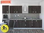 Кухня прямая ТБМ Люкс «Моника» (3.6 м, антрацит)