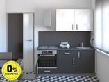 Кухня прямая ТБМ Люкс «Николь» (1.8 м, белый/графит)