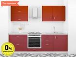 Кухня прямая ТБМ Люкс «Анита» (2.4 м, темно-красный)