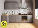 Кухня угловая ТБМ Люкс «Лиа» (1.21x2.81 м, светло-серый)
