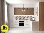 Кухня угловая ТБМ Люкс «Рене» (3.01x1.46 м, древесный/белый)
