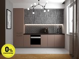 Кухня прямая ТБМ Люкс «Элис» (3.0 м, пыльная роза/серый)
