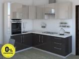 Кухня угловая ТБМ Люкс «Сильвия» (1.6x2.4 м, бежевый/антрацит)