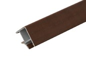 Соединитель 90° цоколя ПВХ, черешня 66 см FIRMAX