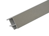 Соединитель 90° цоколя ПВХ, фольга алюминий сатин 66 см FIRMAX