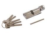 Цилиндр профильный ELEMENTIS 40(ключ)/40(ручка) ЦАМ, 5 перфорированных ключей, никелированный