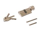 Цилиндр профильный ELEMENTIS с ручкой 30(ключ)/30(ручка), никелированный