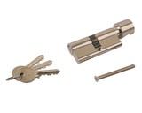 Цилиндр профильный ELEMENTIS с ручкой 35(ключ)/35(ручка), никелированный